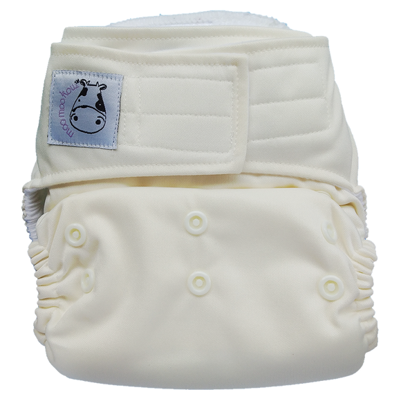 Cloth Diaper One Size Aplix - White
