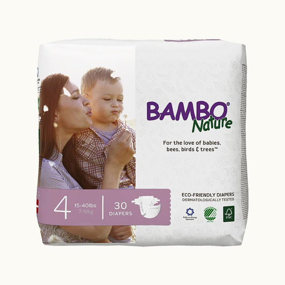 Bambo Nature Baby Diaper [Size 4 / 7-18kg] 30/pack
