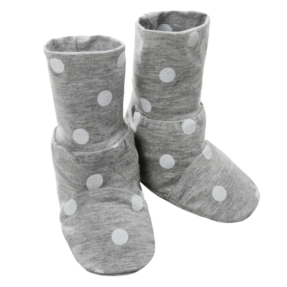 Booties Polka Dot Grey