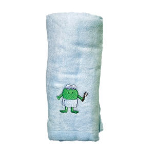CrokCrokFrok Bamboo Towel for Baby & Kids - Blue - Small