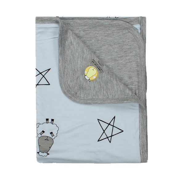 Double Layer Blanket Big Star & Sheepz Blue - 36M
