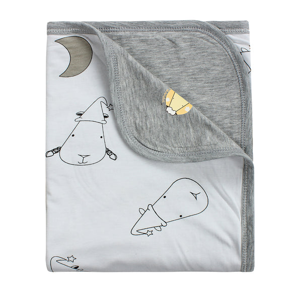 Double Layer Blanket Big Moon & Sheepz White - 36M