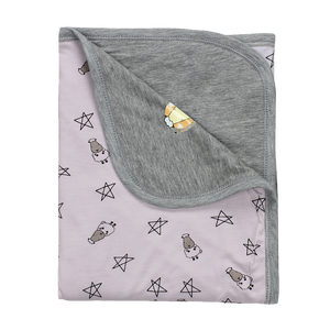 Double Layer Blanket Small Star & Sheepz Pink - 36M