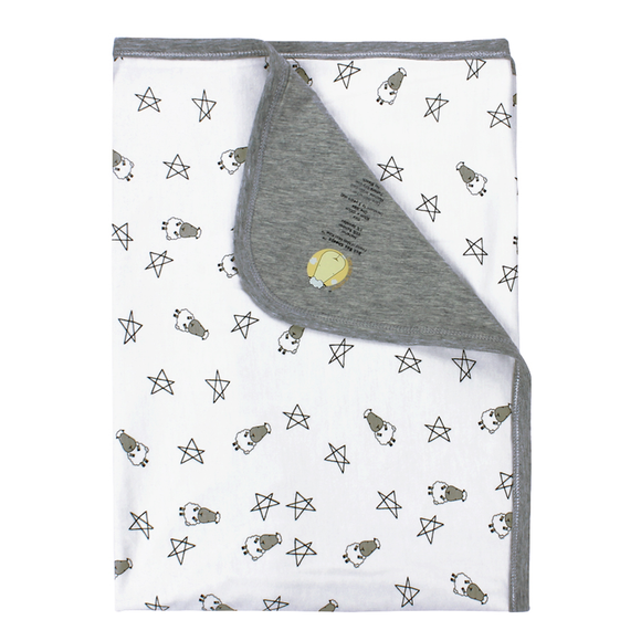 Double Layer Blanket Small Star & Sheepz White