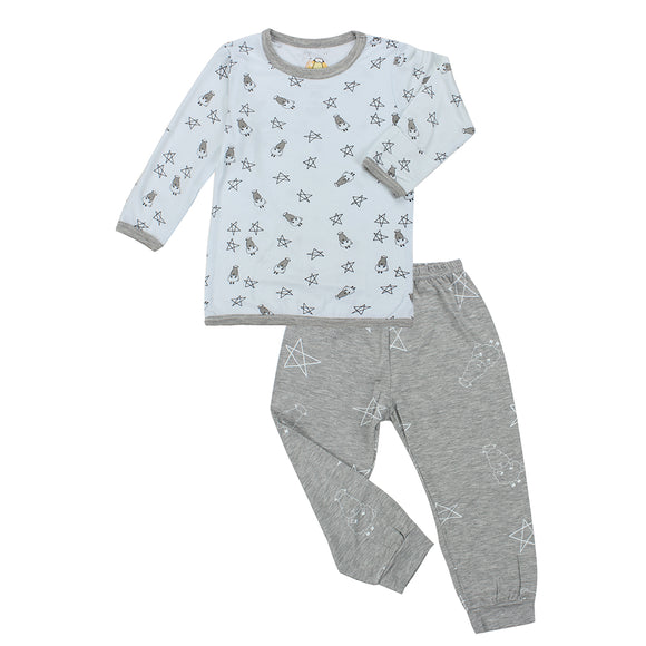 Pyjamas Set Small Star & Sheepz Blue + Big Star & Sheepz Grey