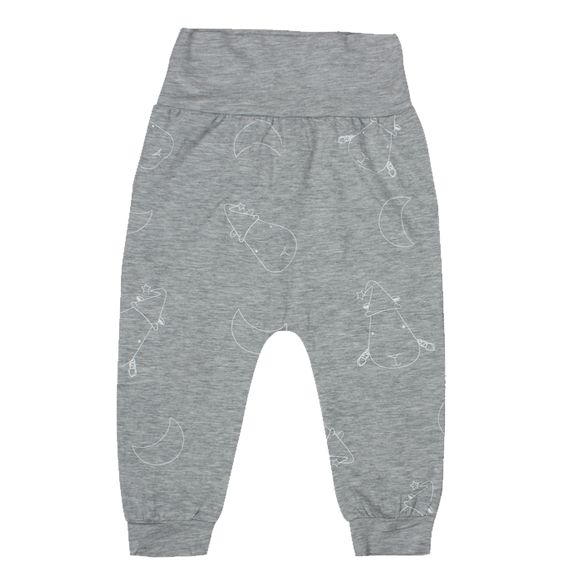 Long Pant foldable waist Grey Big Moon & Sheepz