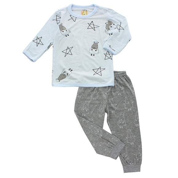 Pyjamas Set Big Star & Sheepz Blue + Big Sheepz Grey