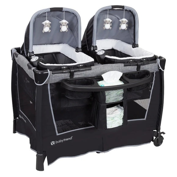 BabyTrend Retreat Twins Nursery Center (Playpen)- Quarry