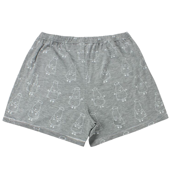 Women Short Big Sheepz Grey