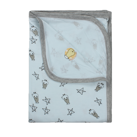 Single Layer Blanket Small Star & Sheepz Blue Large