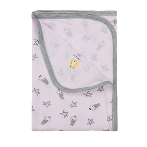 Single Layer Blanket Small Star & Sheepz Pink - 36M