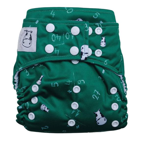 BAMBOO Cloth Diaper One Size Snap - Maths