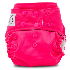 Cloth Diaper One Size Snap - Candy Pink