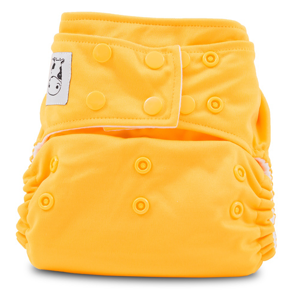 Cloth Diaper One Size Snap - Light Orange