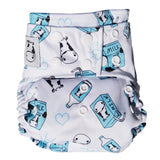 BAMBOO Cloth Diaper One Size Snap - Milk Milk