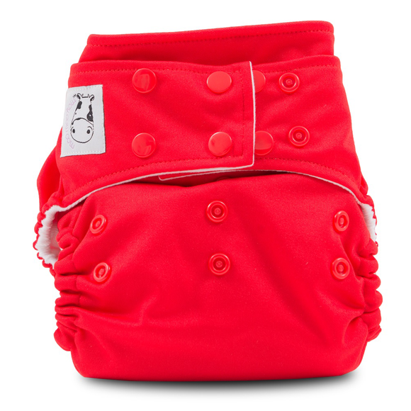 Cloth Diaper One Size Snap - Red