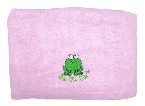 CrokCrokFrok Bamboo Towel for Kids & Adult - Pink - Large
