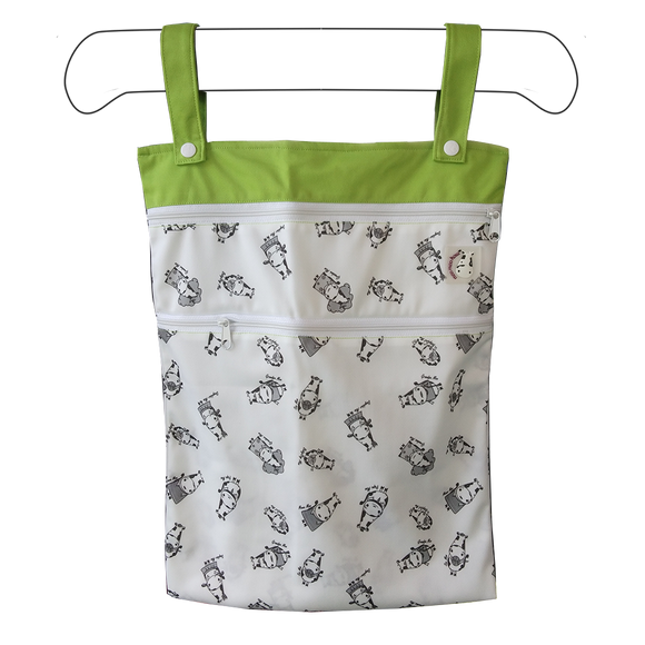 Wet Bag XL - Moo Family Green