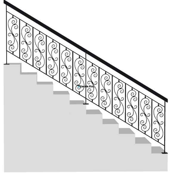 rambarde escallier et rampe volute