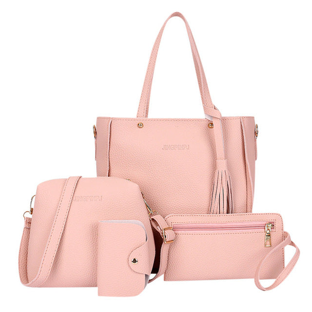 4pcs Woman Bag Set of Wallet ,Handbag, Four-Piece Shoulder Bag, and Purse Bag