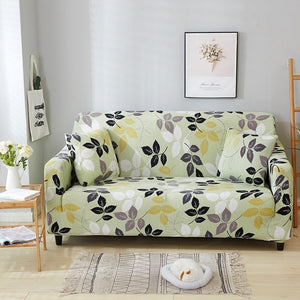 Solid Color Polyester High Elasticity non-slip Sofa Cover.