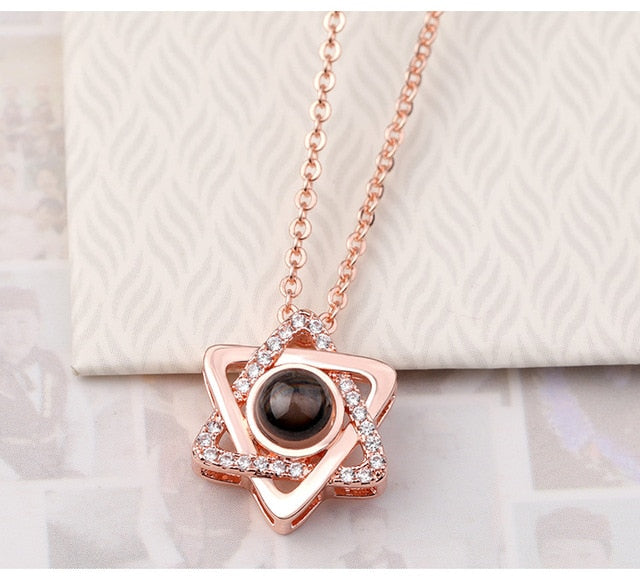 Rose Gold & Silver Love Pendant Necklace