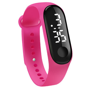 Unisex Digital Touch Screen LED  Silicone Strap  Electronic Bracelet Watches.