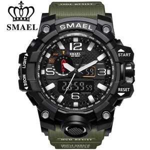 Dual Display Analog Digital LED Electronic Waterproof  Military Watch