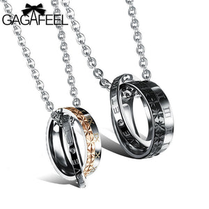 Double Circle Pendants Necklaces.