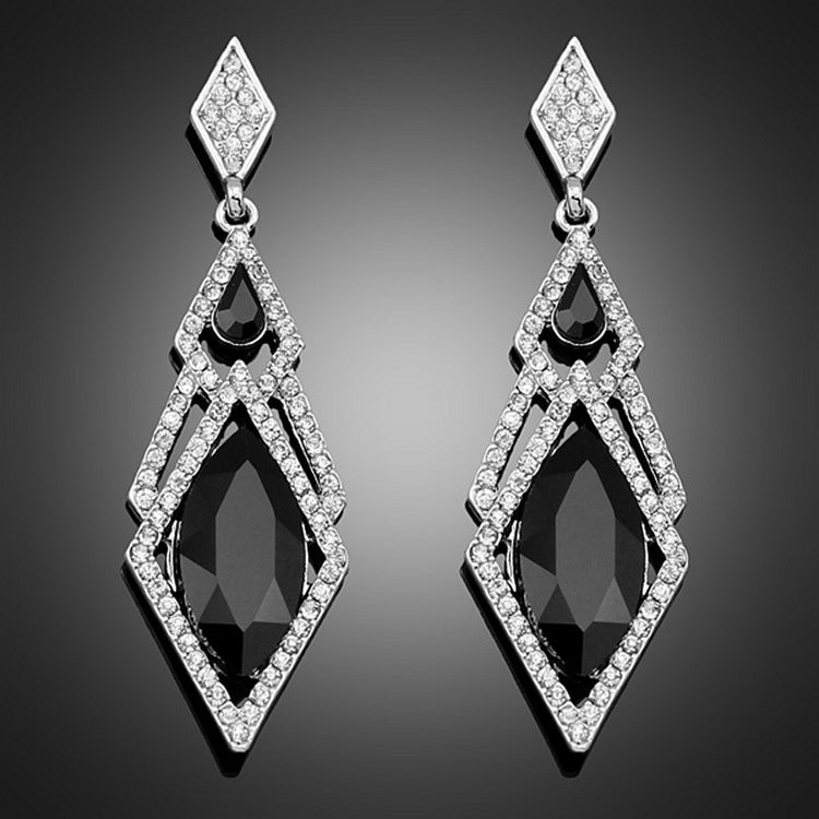 Hypoallergenic Rhinestones Inlaid Woman Earrings