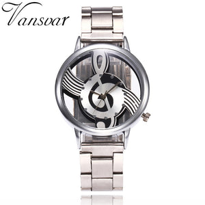 Hollow Watch Stainless Steel Quartz Unisex Wristwatch