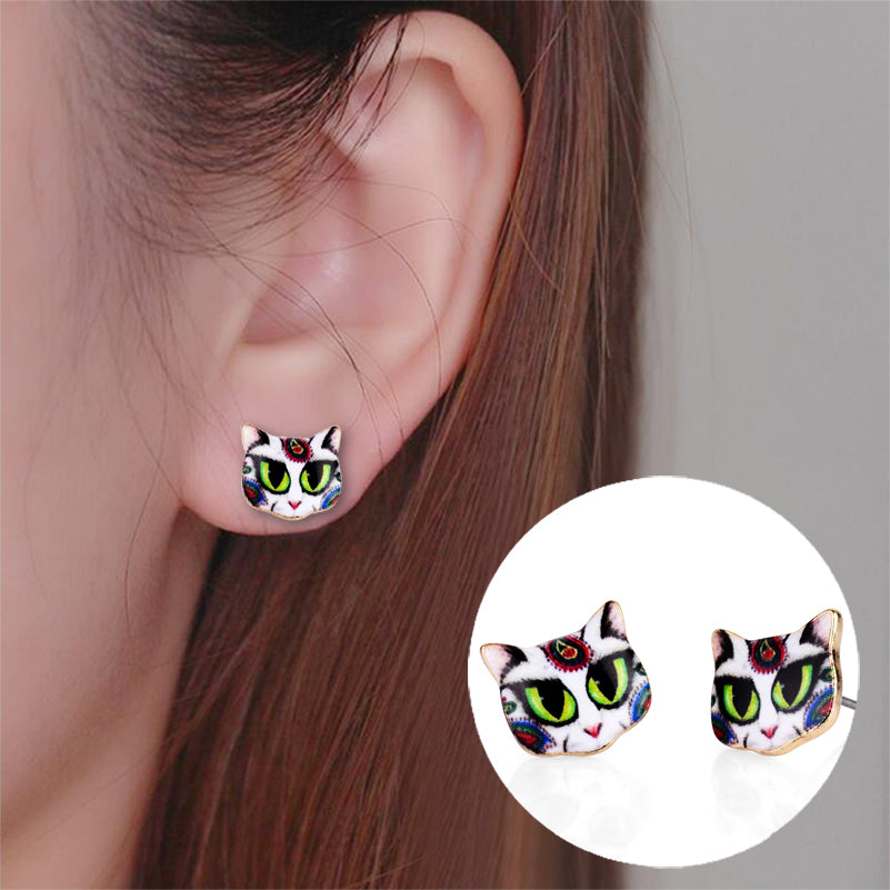 Cat Lovers Black Cat Earrings
