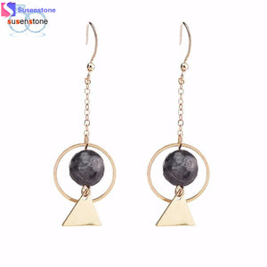 Hollow Retro  Bead Long Earring