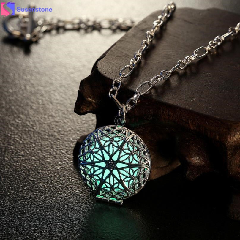 Luminous Pendant Locket Choker Necklace