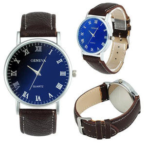Blue Ray Quartz Analog Wrist Watch.