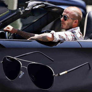 Spring Leg Alloy Men Polarised Driving Sunglasses