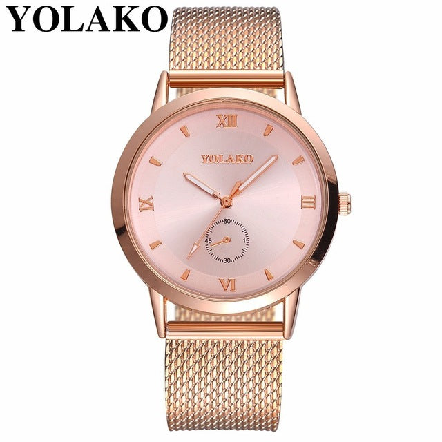 Leather Analog Ladies Wrist Watch