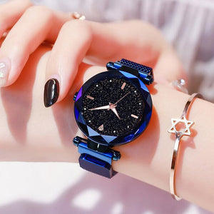 Starry Sky Magnetic Luminous Female Wristwatch