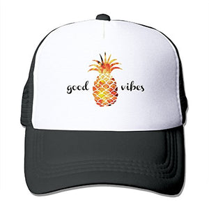 Pineapple Trucker Hat for Woemn | Good Vibes Adjustable Mesh Baseball Cap IMPORTED
