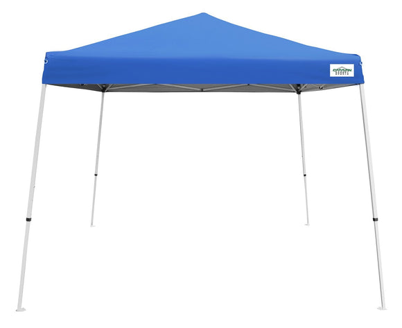 Caravan Canopy V-Series 2 Slant Leg - 12X12 Canopy Kit, 81 Sq. Ft. of Shade, Blue