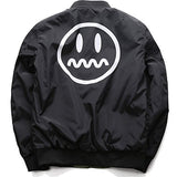 Yeezy Coat Smiley Face Reversable Bomber Jacket