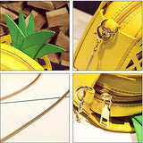 Pineapple Shaped Leather Clutch Purse & Cross Body Bag IMPORTED