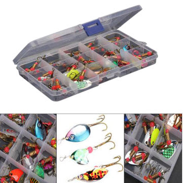Tackle Box with 30 Trout Spinners | Best Spinner Setup Kit for Stream Fishing