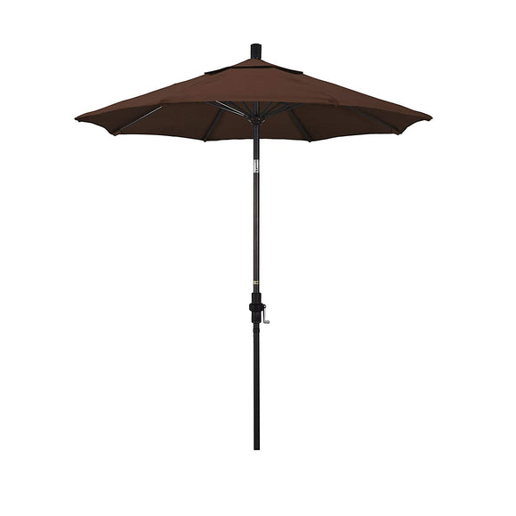 California Umbrella Round Aluminum Pole Fiberglass Rib Market Umbrella, Crank Lift, Collar Tilt
