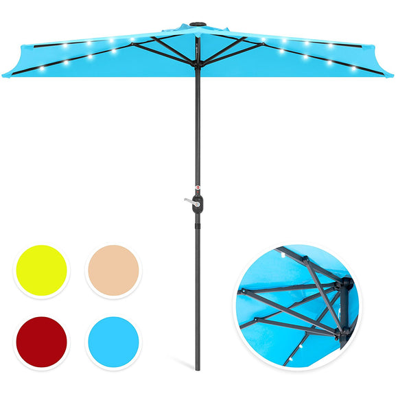 Best Choice Products 9' Patio Solar LED Half Umbrella