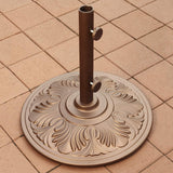 Island Umbrella 50-lb Art Deco Aluminum Umbrella Base in Bronze