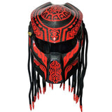 Predator Motorcycle Helmet RED