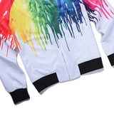 Yeezy Coat Paint Splash Rainbow Jacket