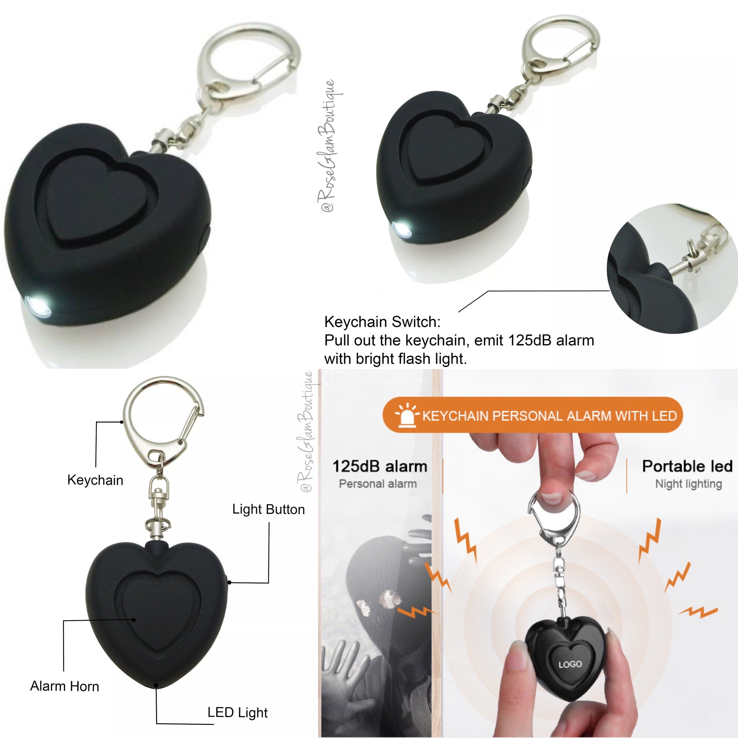 Self Defense Keychain (Black)