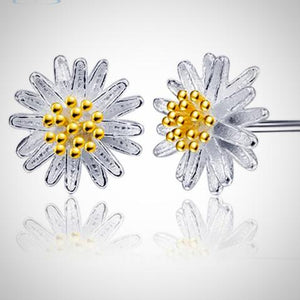 Daisy Flower Earrings Ear Stud Jewelry